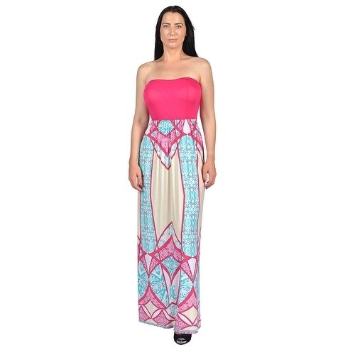 Shop Women s Fuschia Strapless Dresses Fuschia - Free Shipping On Orders  Over  45 - Overstock.com - 19528588 76490b27dddf