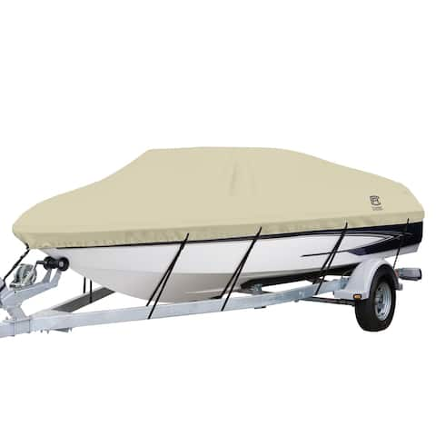 Classic Accessories 20-085-102401-00 DryGuard Boat Cover, 16 feet to 18.5 feet long, beam width to 98 inches