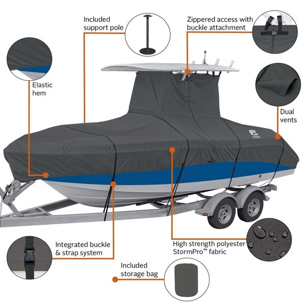 Model C StormPro T-Top Boat Cover