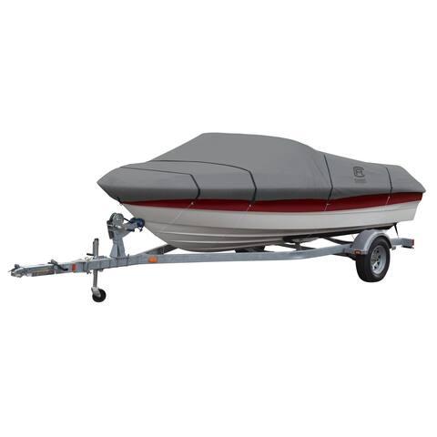 Classic Accessories 20-235-121001-00 Lunex RS-1 Boat Cover, Model E, Grey