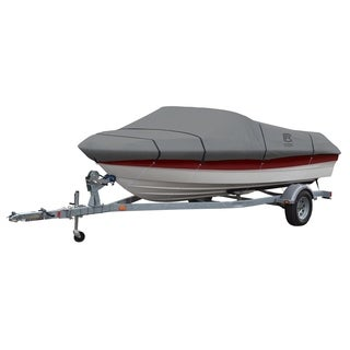 Classic Accessories 20-235-121001-00 Lunex RS-1 Boat Cover, Model E, Grey