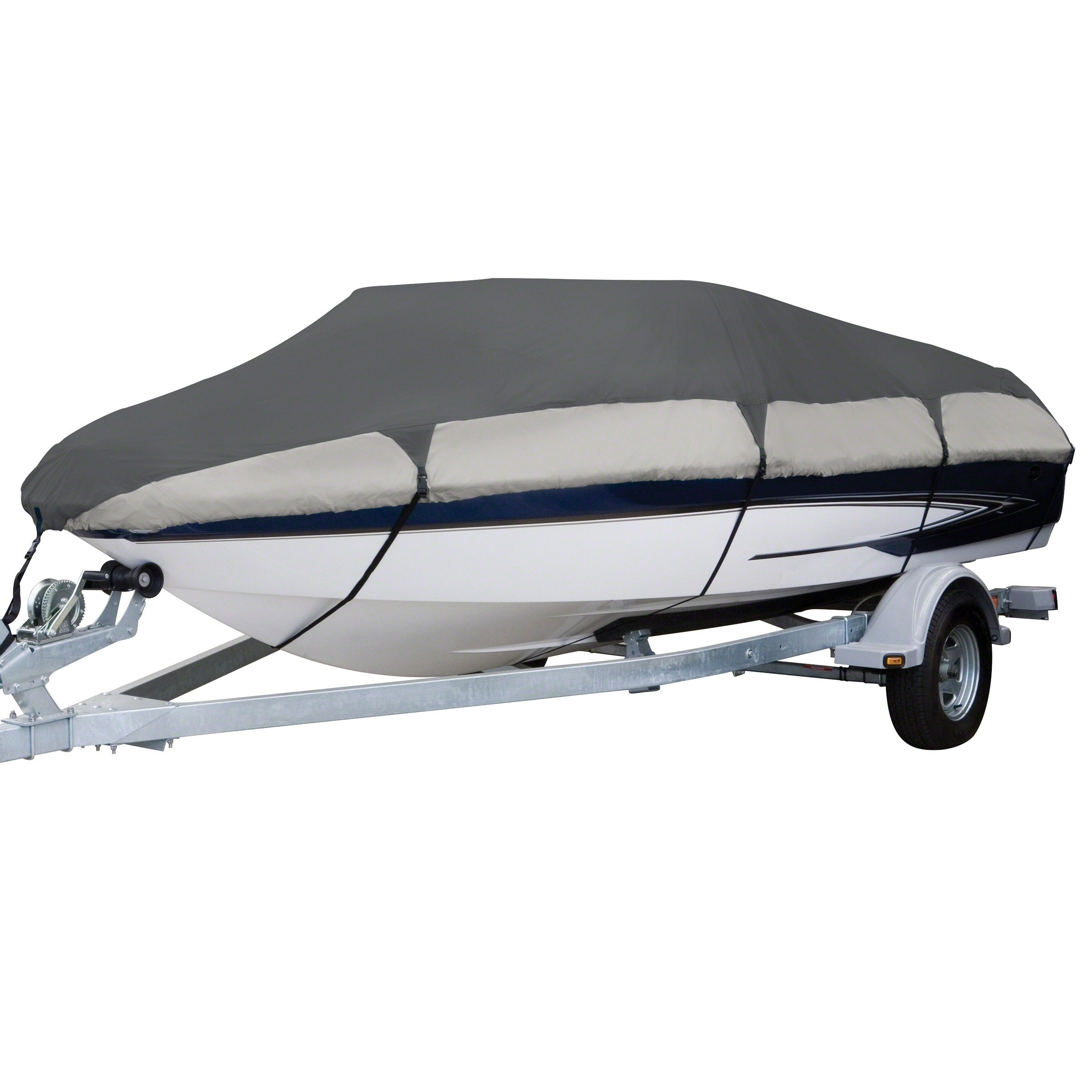 "Classic Accessories StormPro T-Top Roof Boat Cover  22/'-24/' Long  Up to 116/"" W"