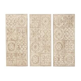 Set of 3 Rustic Fir Wood Wall Plaques