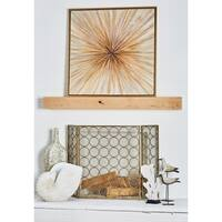 Contemporary 39 Inch Fir Wood Framed Canvas Wall Art by Studio 350 - Brown