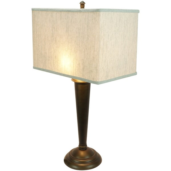 Marshall Table Lamp with 16 Textured Oatmeal rectangular