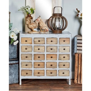 Rustic 20-Drawer Mahogany Wood Chest Cabinet by Studio 350