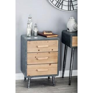 Studio 350 Modern Grey/Brown Wood/Metal 3-drawer Chest