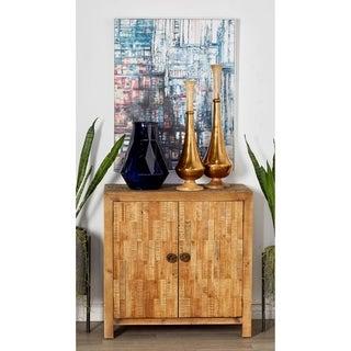 Rustic Rectangular 2-Door Wooden Textured Cabinet by Studio 350