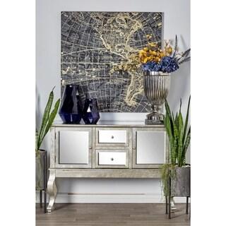 Modern Rectangular Mirror-Paneled Wooden Side Board by Studio 350