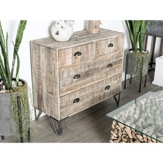 Rustic Teak and Iron Brown 4-Drawer Chest by Studio 350