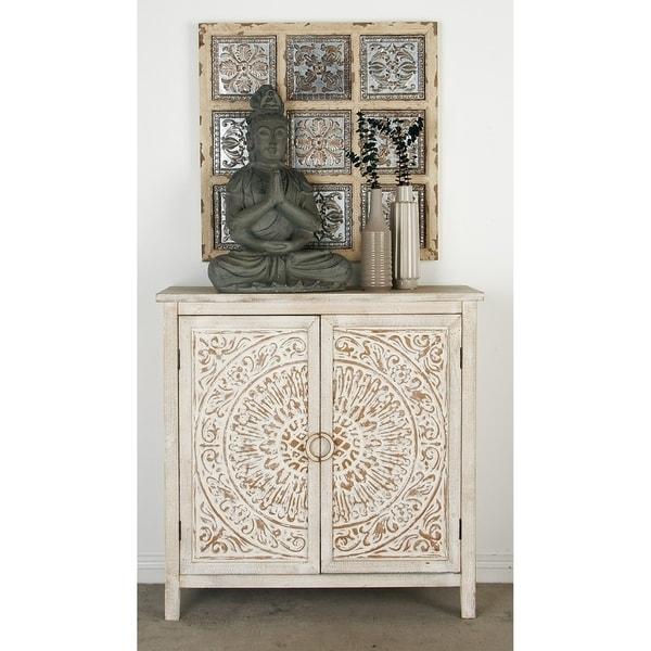 Shop Traditional Carved Design 2 Door Wooden Cabinet By Studio 350
