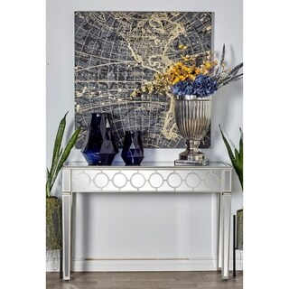 Modern Wood and Glass Console Table