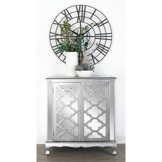 Studio 350 Mirrored 2-door Lattice-design Cabinet