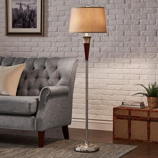 Carson Carrington Aalborg Brushed Nickel Accent Floor Lamp