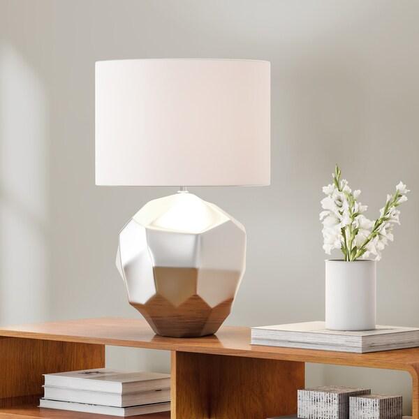 Carson Carrington Selfoss Geometric Table Lamp