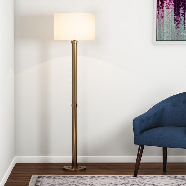 Copper Grove Baptisia Brass Floor Lamp - Black/Brass. Opens flyout.