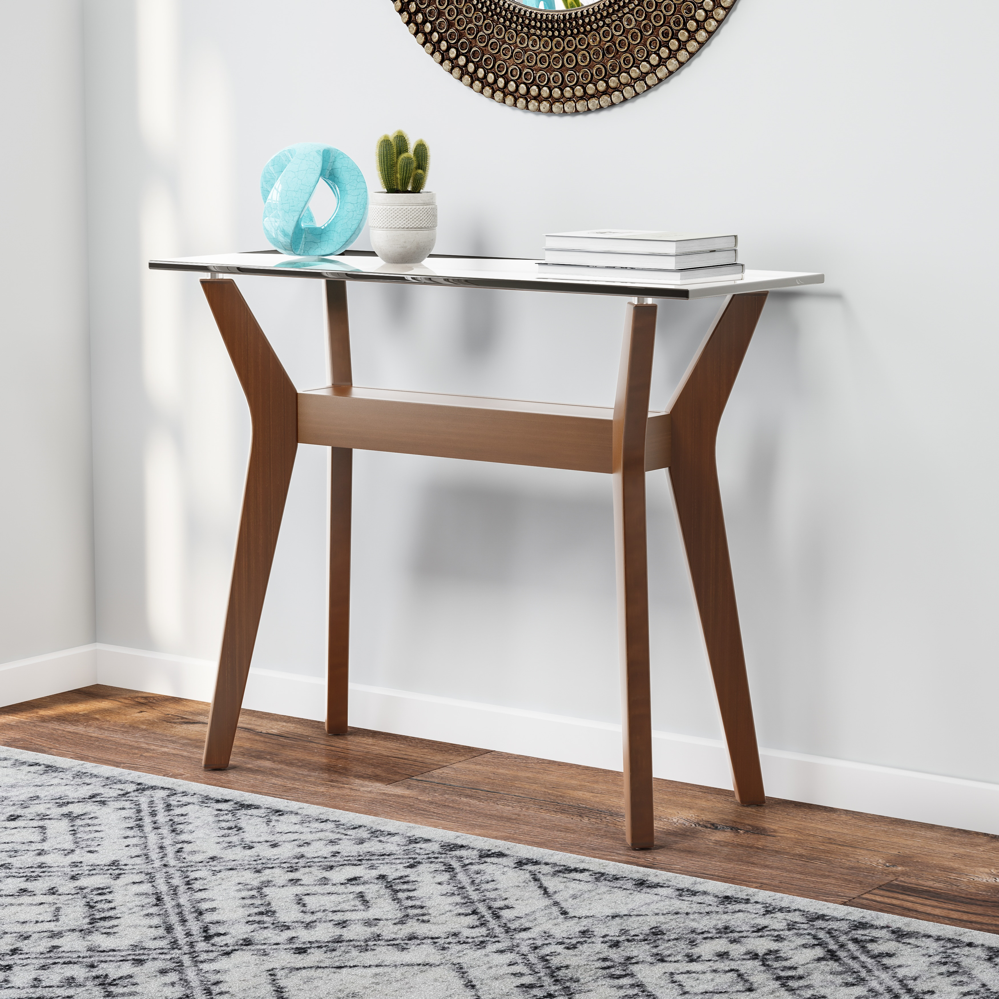 Mid Century Modern Entryway Table Coffee Console Sofa End Tables