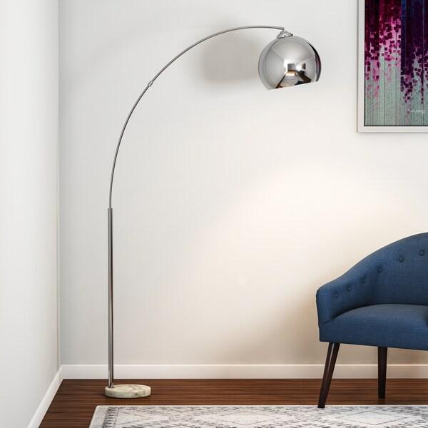 Carson Carrington Fredrikstad Chrome Metal Body 69-inch Modern Floor Lamp