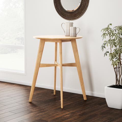 Carson Carrington Lund Natural Finish Wood Bar Table