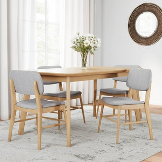Carson Carrington Kemi Mid-century 5-piece Wood Large Rectangular Dining Set