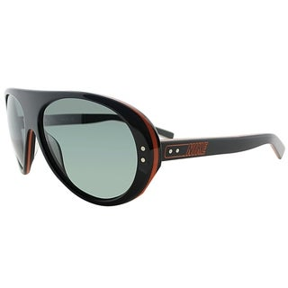 Nike Aviator EV0601 008 Unisex Black Red Frame Grey Gradient Lens Sunglasses