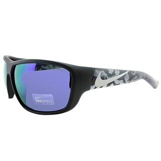 Nike Sport EV0783 Mercurial 8.0 R 005 Unisex Matte Black Frame Blue Mirror Lens Sunglasses