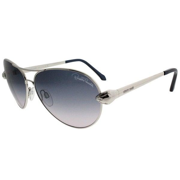 7ca0136ea50e Roberto Cavalli Aviator RC 884S Matar 16B Women Silver Frame Grey Gradient Lens  Sunglasses