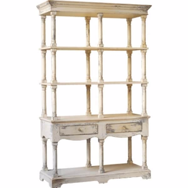 Vintage Style French Country Bookcase White