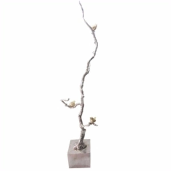 Shimmering Aluminum Branch Decor Accent, Silver