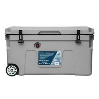 Nice 90L Premium Roto-Mold Cooler With Wheels (Option: Grey - Hardsided - Polyethylene)