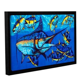 Daniel Jean-Baptiste's 'Blue Marlin' Gallery Wrapped Floater-framed Canvas