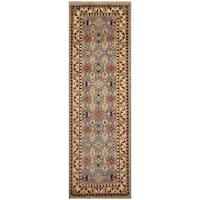 Handmade Herat Oriental Indo Hand-Knotted Kazak Wool Runner (2'6 x 8') (India)