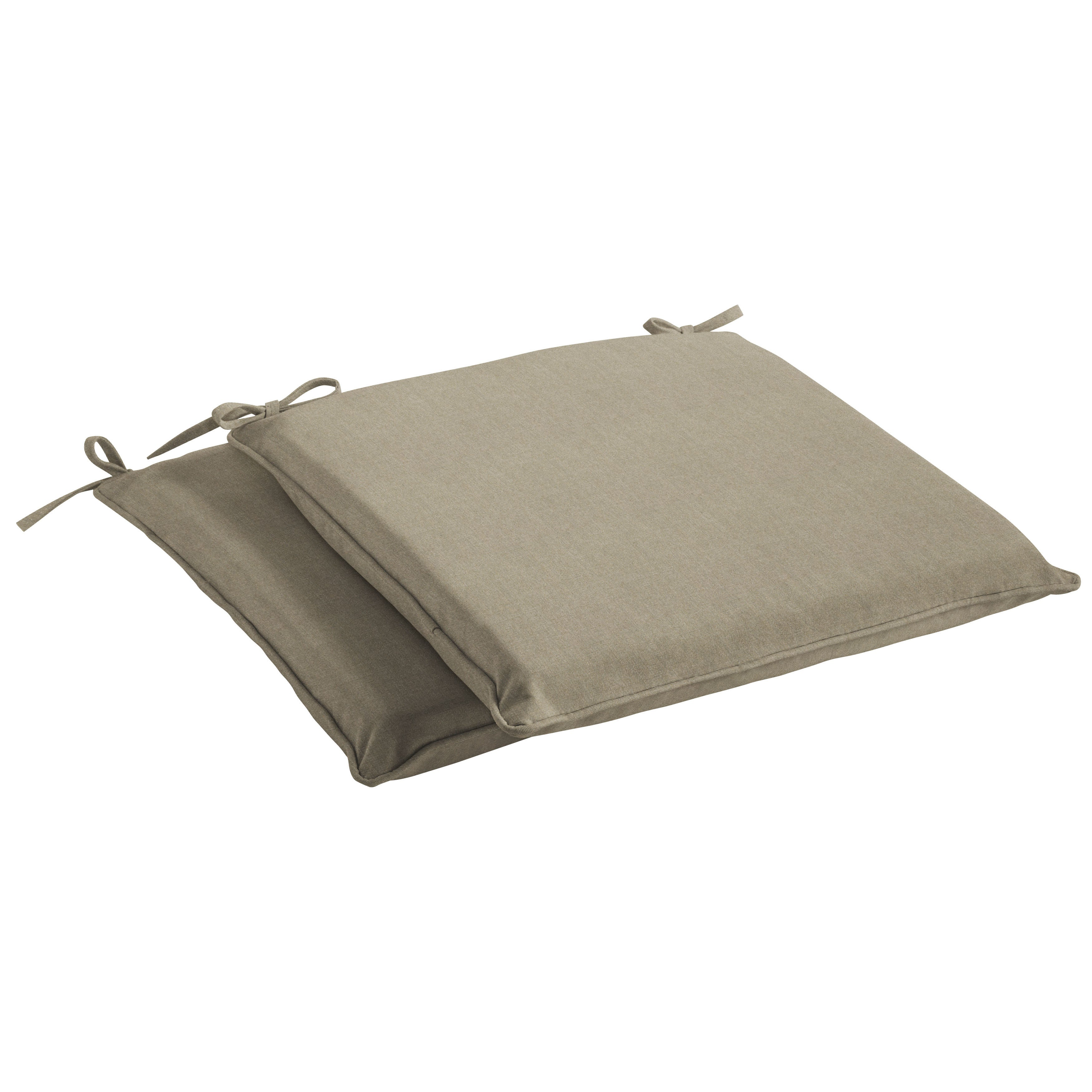 Humble + Haute Sunbrella Canvas Taupe Indoor/ Outdoor Cushion, Set of 2 (20 in w x 20 in d)