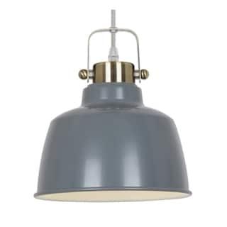 Light Society Mercer Grey Metal 1-light Pendant Lamp (As Is Item)