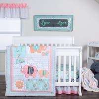 Trend Lab Playful Elephants 3 Piece Crib Bedding Set
