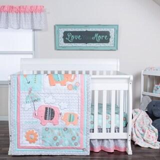 Trend Lab Playful Elephants 3 Piece Crib Bedding Set