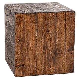 Rustic Cube Accent Stool / Side Table / Ottoman (USA)