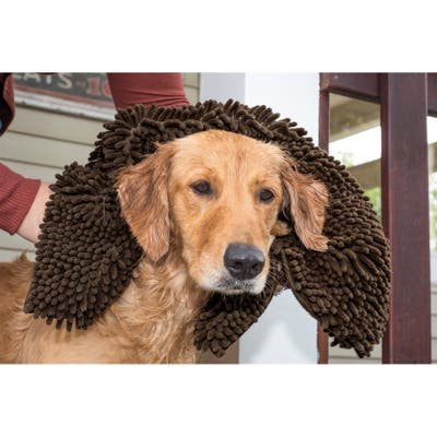FurHaven Pet Dog Mat | Muddy Paws Ultra Absorbent Towel & Shammy Rug