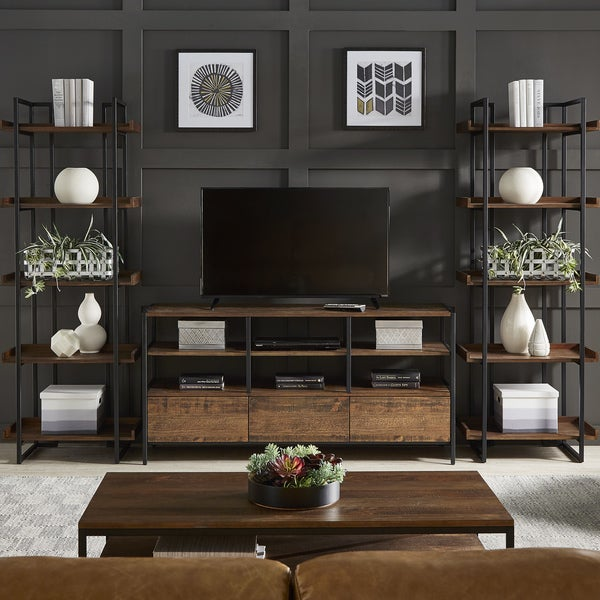 Corey Rustic Brown 3-Piece Entertainment Center by iNSPIRE Q Modern. Opens flyout.