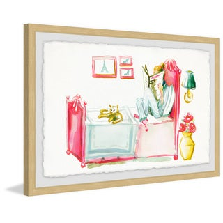 Marmont Hill - Handmade Reading with the Cat Framed Print