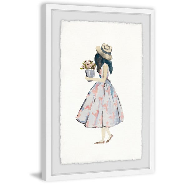 'Pink Poodle Dress' Framed Painting Print 32522447