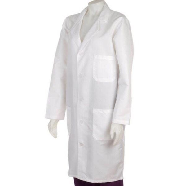 Medline Unisex White Knee Length Lab Coat - Free Shipping On