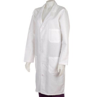 Medline Unisex White Knee Length Lab Coat