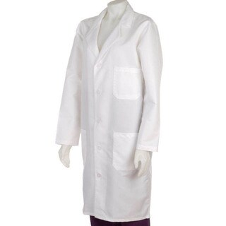 Medline Unisex White Knee-length Lab Coat