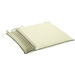 Humble + Haute Sunbrella Canvas Natural and Sunbrella Canvas Charcoal Indoor/ Outdoor Cushion, Set of 2