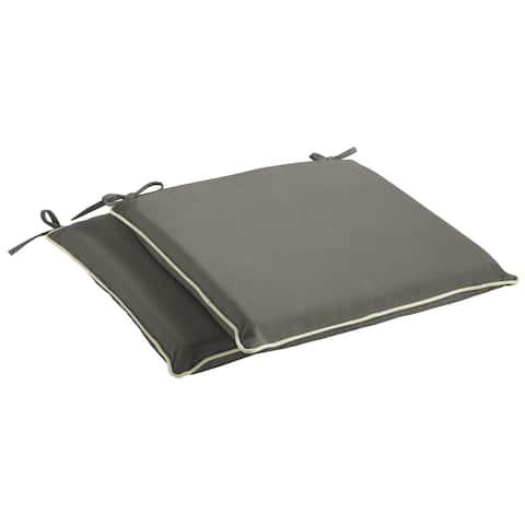 Humble + Haute Sunbrella Canvas Charcoal and Sunbrella Canvas Natural Indoor/ Outdoor Cushion, Set of 2