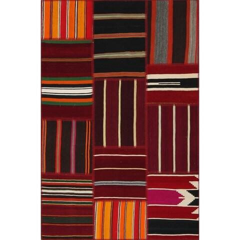 "String Matter Tribal Kilim Patchwork Rug (4' x 6') - 3'11"" x 5'11"""