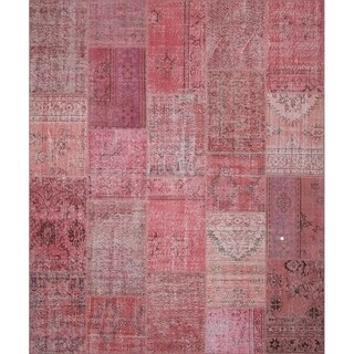 String Matter Original Over-dyed Patchwork Rug (8' x 10')