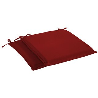 Humble + Haute Sunbrella Canvas Jockey Red Indoor/ Outdoor Cushion, Set of 2 (4 options available)
