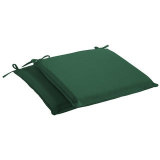 Humble + Haute Sunbrella Canvas Forest Green Indoor/ Outdoor Cushion, Set of 2 (4 options available)